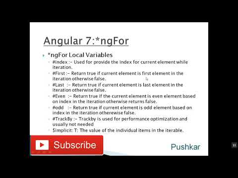 Angular 7 Tutorial   video  16   *ngFor thumbnail