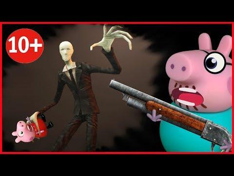 🔴СЛЕНДЕР В ОКНЕ все серии СТРАШИЛКИ на русском МУЛЬТИК О СЛЕНДЕРМЕН Horror Pig мультики 2018