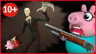 SLENDER IN THE WINDOW all episodes HORROR STORIES cartoon about SLENDERMAN horror pig cartoons