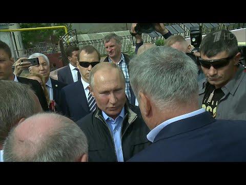 В.Путин встретился в Ботлихе с ополченцами, которые остановили вторжение террористов 20 лет назад.
