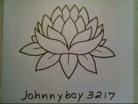 How To Draw A Lotus Flower Easy For Everyone Doodle Sketch Como