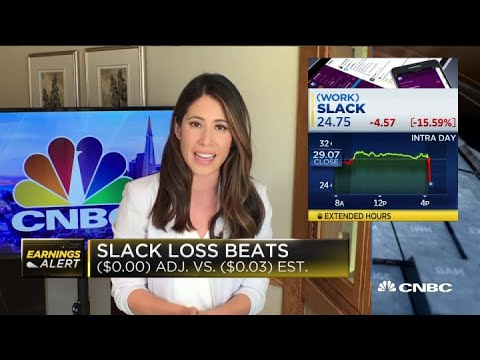 Slack's stock climbs on possible Salesforce acquisition