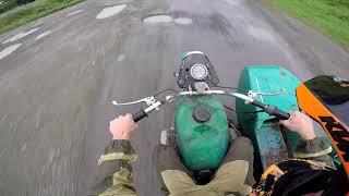 Покатуха на мотоцикле Урал осень
