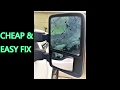 How-to: 2011 Ford f250 and up+ Mirror glass repairing by replacing the glass only (heated)