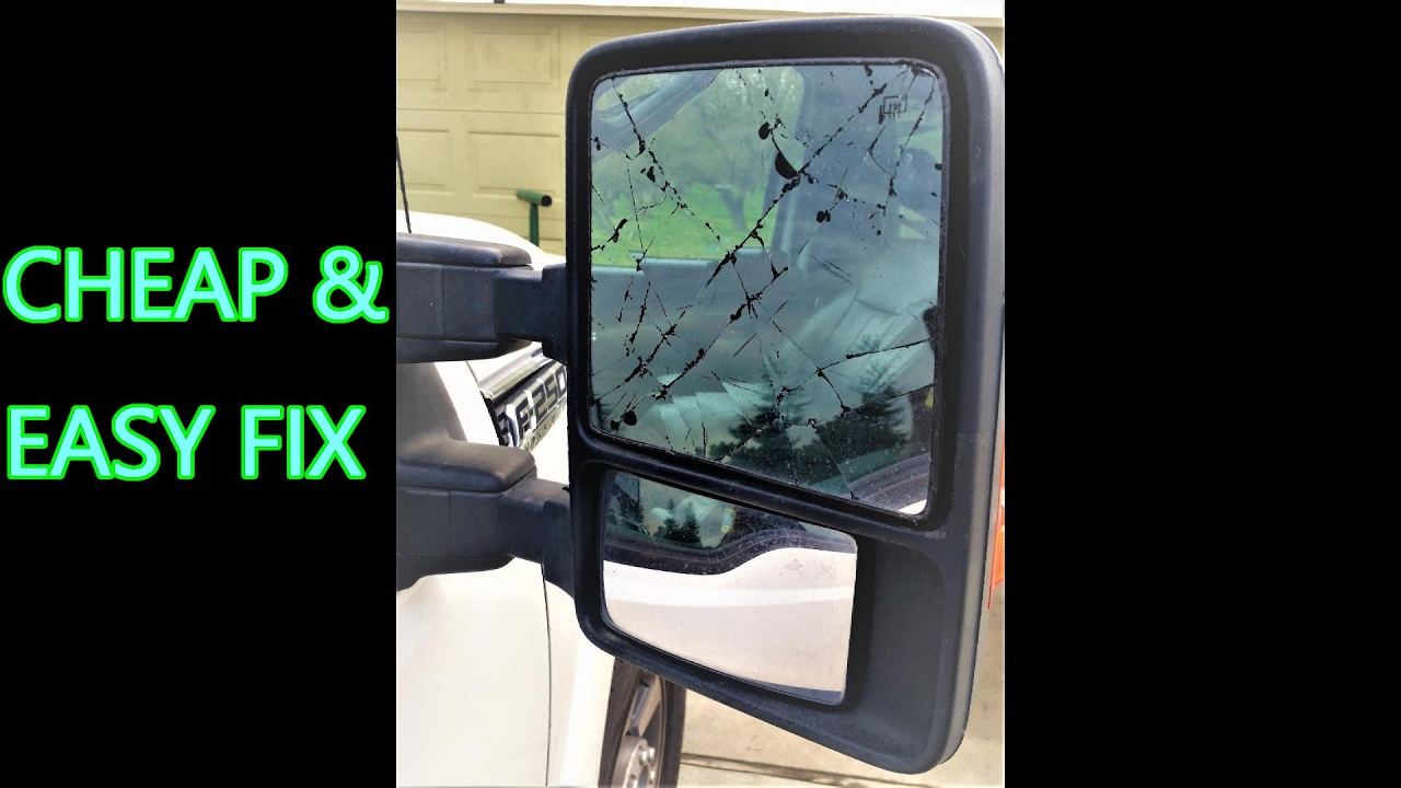 2016 Ford F350 >> 2011 & up SUPER DUTY Mirror glass repaired by replacing the glass only (heated) - YouTube