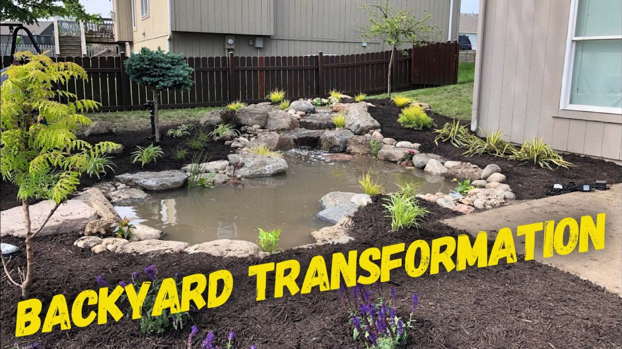 How To Build A Backyard Pond In 7 hours! Part 1 - YouTube