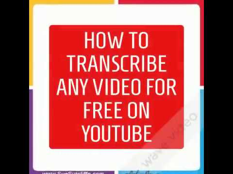 How to use YouTube to transcribe your Video for Free in 9