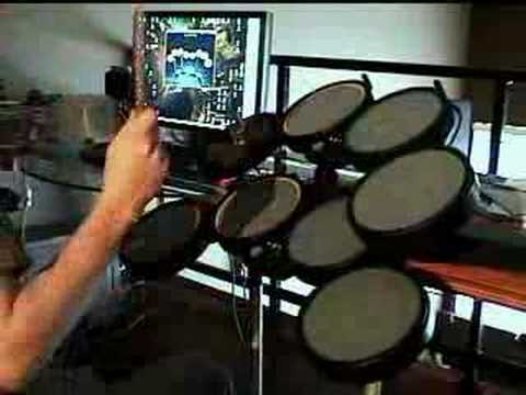 double rock band drum kits with drum machine youtube. Black Bedroom Furniture Sets. Home Design Ideas