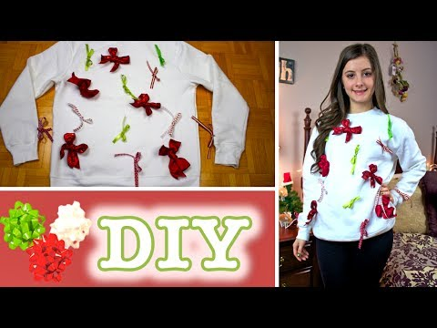 diy cute ugly christmas sweater quick easy no sewing or glue