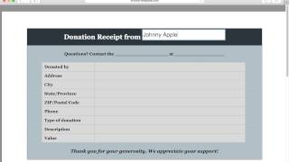 How to Make a Donation Invoice   Receipt   Excel   Word   PDF