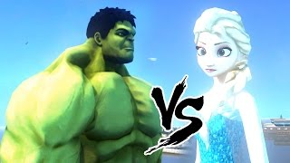 ELSA vs HULK - GTA IV ( The snow queen vs Avenger)