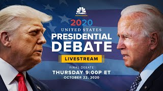 President Trump and former VP Joe Biden face off in final presidential debate — 10/22/20