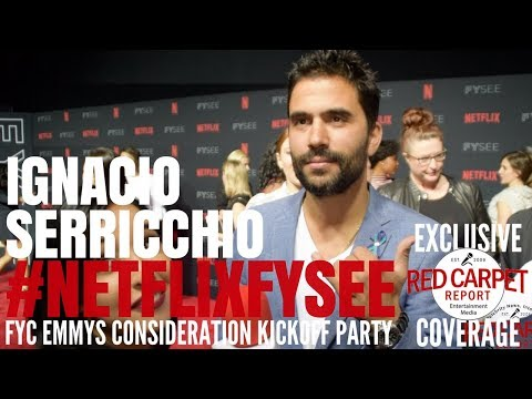 Ignacio Serricchio LostinSpace ed at 2018 NetflixFYSee Space FYC Emmys party