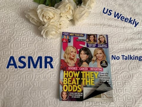 Pure ASMR - Page Turning/Flipping Through A Magazine  No Talking - US Weekly (08/26/19)