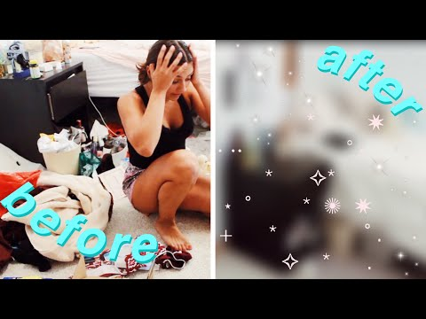 BACK TO SCHOOL: deep cleaning my room 2019! (decluttering + organizing)