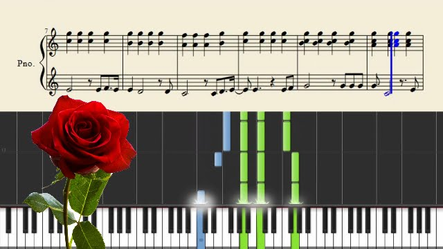Bette Midler The Rose Piano Tutorial Sheets Youtube