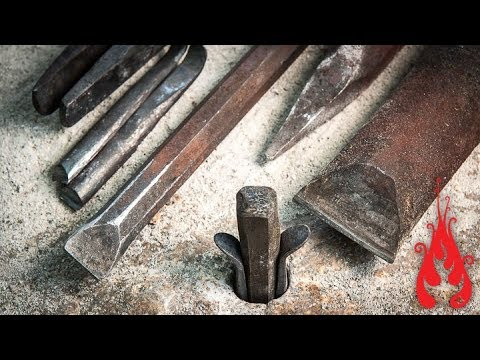 Blacksmithing - Forging tools for stone splitting