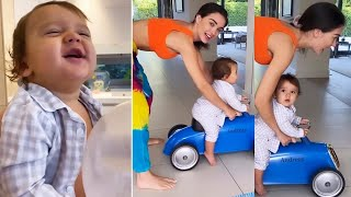 Actress Amy Jackson Playing With Her Son Andreas | MS Entertainments