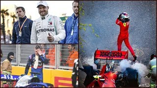Феррари против Леклера, Квята выбили по беспределу (Гран-При Баку Азербайджан 2019 Формула-1)