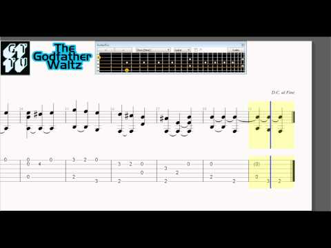 Learn How to Play The Godfather Waltz - Acoustic Guitar Pro TABS Nino Rota