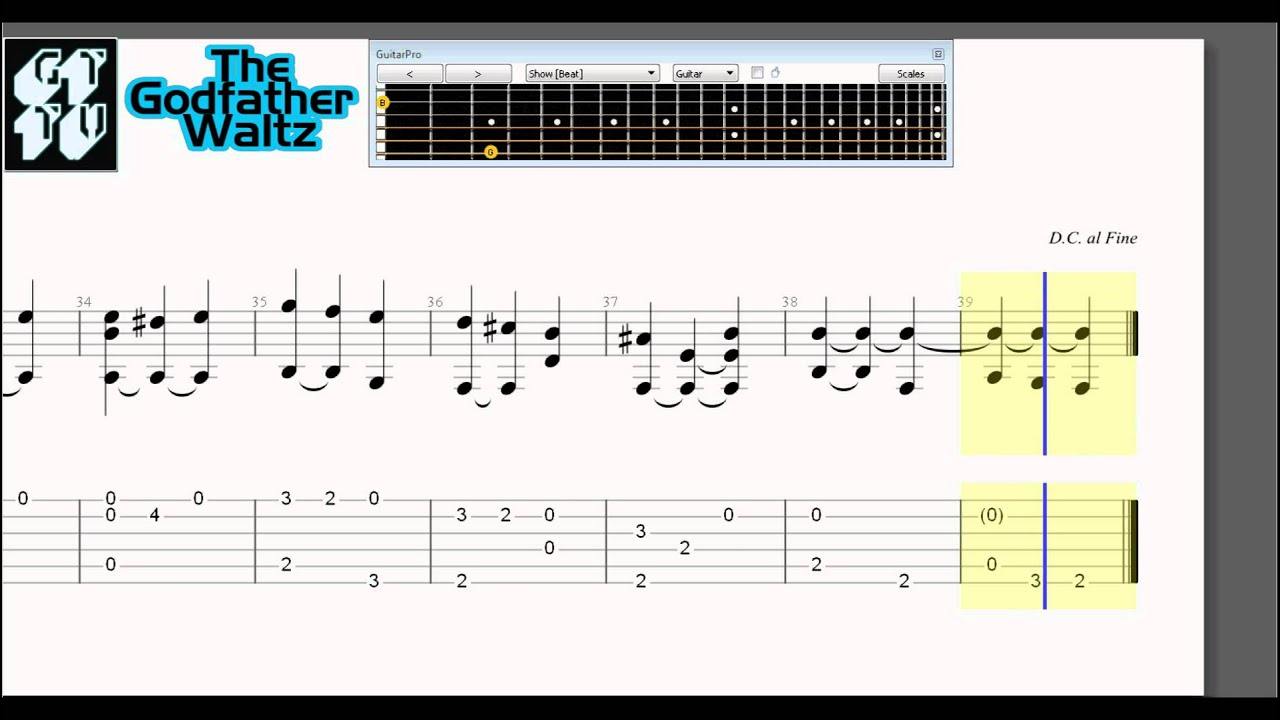 Learn How to Play The Godfather Waltz - Acoustic Guitar Pro TABS Nino Rota - YouTube