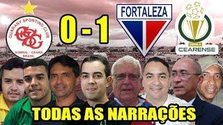Todas as narrações - Guarany SC 0 x 1 Fortaleza / Campeonato Cearense 2019
