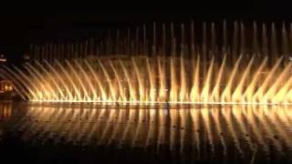 Wasserspiele am Burj Khalifa in Dubai