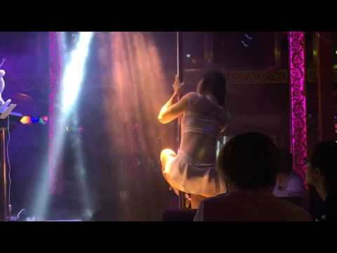 Pole dancer at Hau Hai Club, Beijing