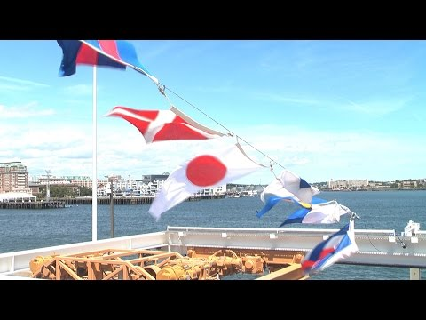 New Coast Guard Cutter USCGC James Is Commissioned In Boston