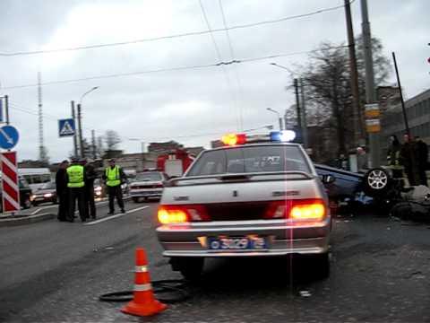 ДТП 29.04.2009 - Светлановский - Орбели HONDA и ВАЗ - 2