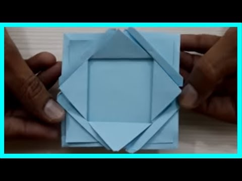 How To Make A Paper Photo Frame || Origami Paper Photo Frame || Activity for Kids