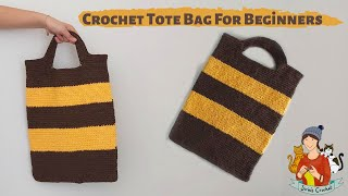 Crochet Easy Tote Bag For Abso…