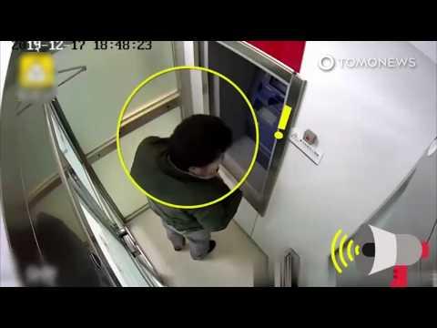 Perampok gagal terkunci di dalam pintu ruangan ATM - TomoNews
