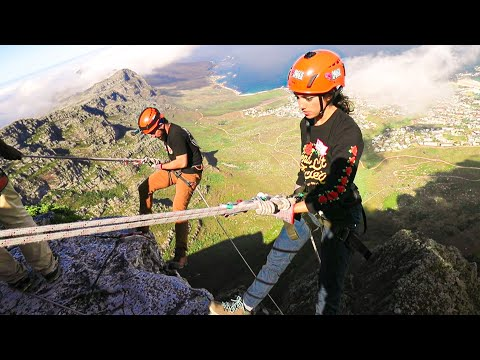 ABSEILING DOWN TABLE MOUNTAIN SOUTH AFRICA! w/ Corey Scherer