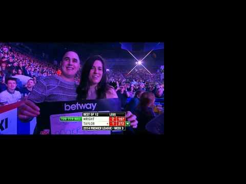 Betway Premier League Darts Week Three Peter Wright v Phil Taylor