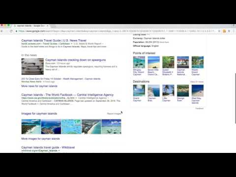 """Google SERPs for """"cayman islands"""" in Northern VA"""