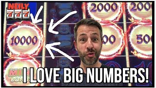 BIG NUMBERS ARE THE BEST! MINIMUM vs MAX BET ON LIGHTNING LINK SLOTS!