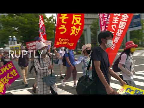 Japan: Hundreds march against nuclear weapons in Hiroshima on 75th anniv. of bombing