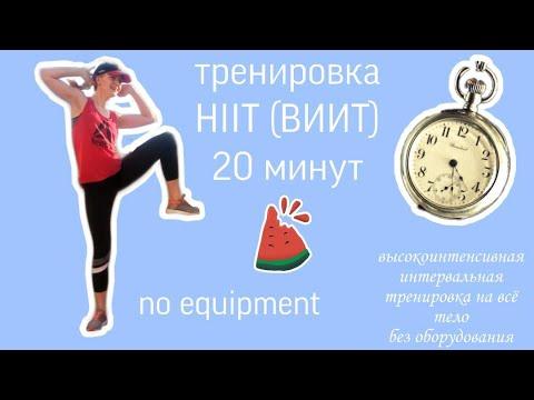 Тренировка HIIT на всё тело без оборудования