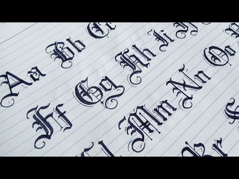 How To Gothic Calligraphy Capital And Small Letters From A To Z   Blackletters Calligraphy