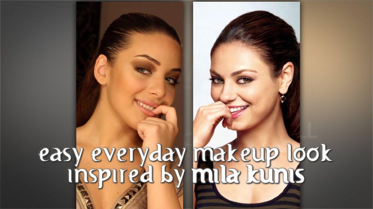 Easy Everyday Makeup Inspired Mila Kunis