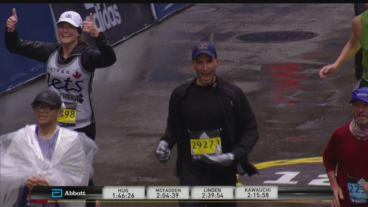 WBZ-TV's Eric Fisher Completes Boston Marathon