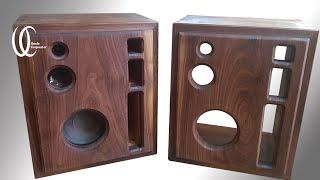 SPEAKER DIY PART2: Build soundbox's walnut case. How to make a speaker using LG Audio's 160W speaker