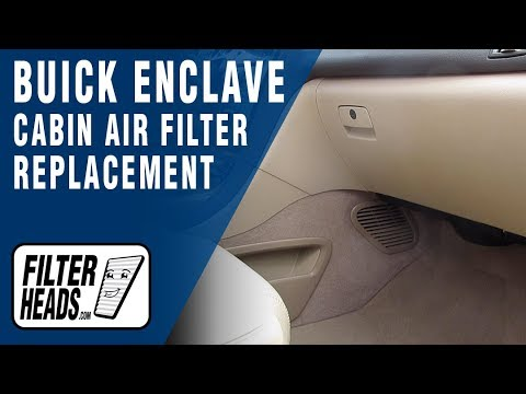 How to Replace Cabin Air Filter 2012 Buick Enclave