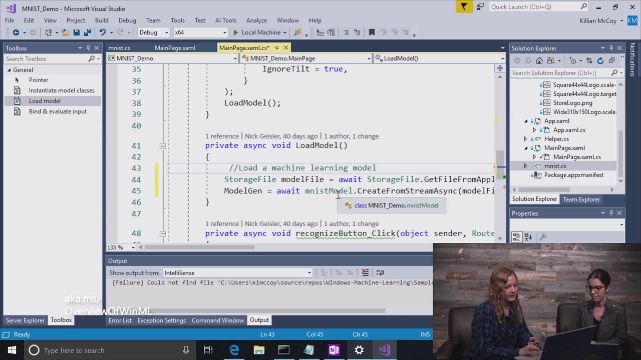 Create a Windows Machine Learning UWP application (C