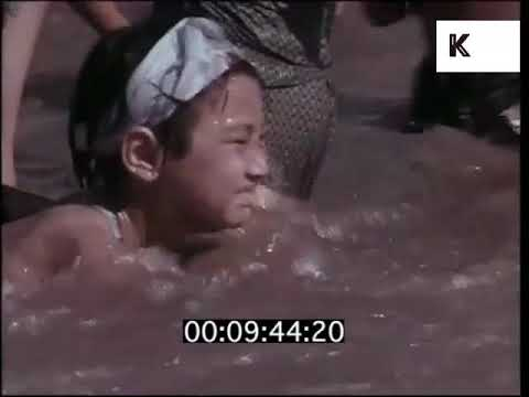 Swimming in the Yangtze River, 1960s China