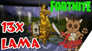 Legendary & Mystical LOOT !! [Fortnite] [English/German] 13x Lama Pack Opening !