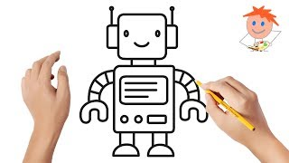robot draw drawing easy step