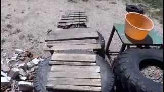 Остров Ейская коса. В гостях у Робинзона.(Видео снято 10 июня 2014 года на острове Ейская коса. Погорелец восстанавливает свой дом., 2014-06-11T19:42:57.000Z)