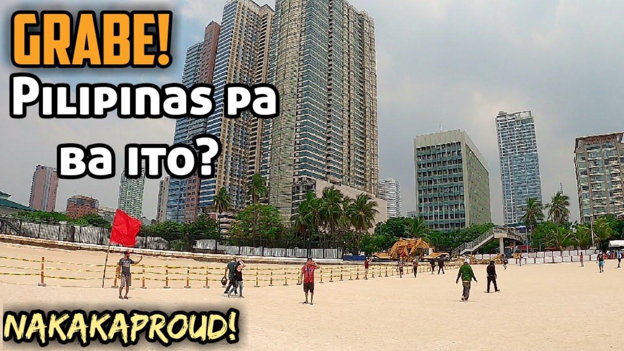 Damang Dama ang Saya ng mga Turista sa Pagbisita ng Manila Bay White Sand Beach